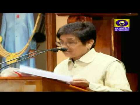 Lt. Governor Dr Kiran Bedi's address on the opening day of the  Puducherry Assembly Budget Session