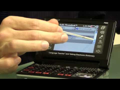 ECTACO ER900 Hands On Demo Electronic Dictionary