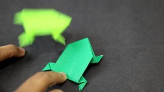 How to make an Easy Paper Jumping Frog - SunderOrigami!