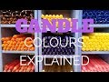 Candle colours explained