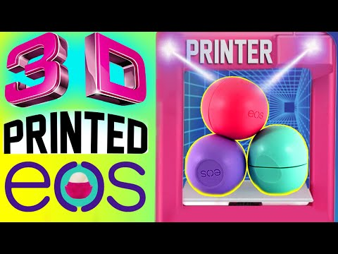 DIY 3D Printed EOS Lip Balm! | How To Print Out A REAL EOS! | Watch Me Use A 3D PRINTER! | 4D EOS!