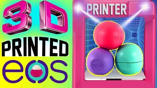 diy 3d printed eos lip balm   how to print out a real eos   watch me use a 3d printer   4d eos