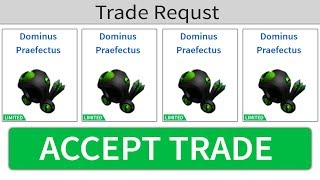 The RICHEST PLAYER GAVE ME 4 DOMINUS for FREE!! (Roblox Trading)
