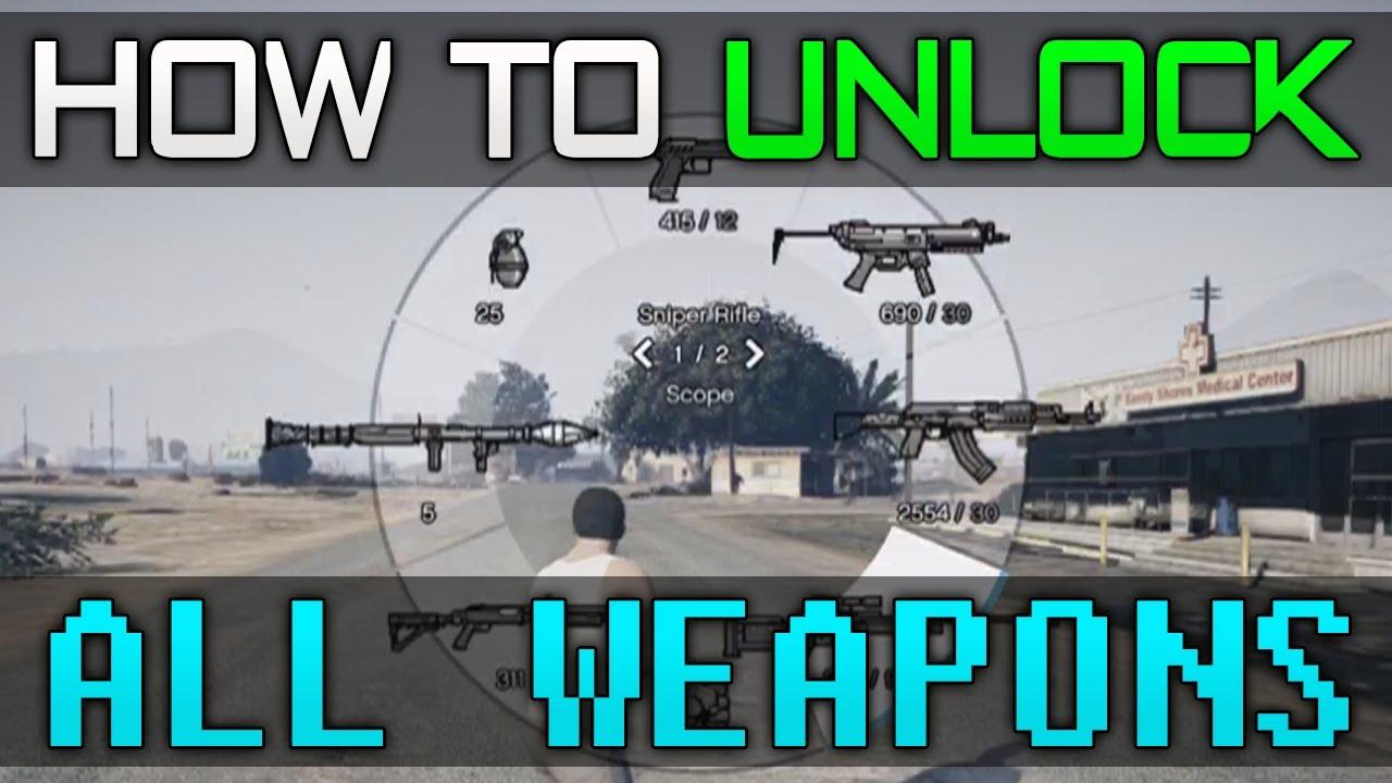 <b>Gta 5</b> - Unlock &quot;All <b>Weapons</b>&quot; <b>Cheat Code</b>! - Guide - YouTube
