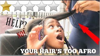 I WENT TO THE WORST RATED HAIR SALON IN MY CITY 😱 |WORST HAIR STYLIST EVER!!