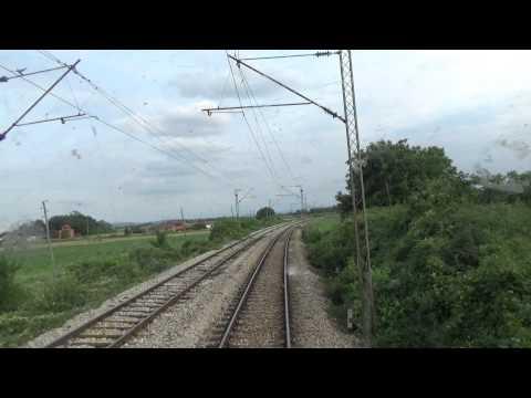 Train Driver's view: railroad in Serbia from Velika Plana to Markovac - SERBIAN RAILWAYS