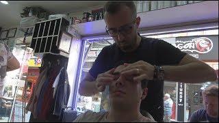 Massage du visage, de la tête et du corps du barbier turc ASMR 166