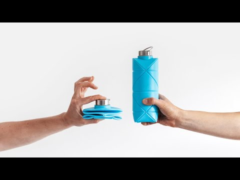 Origami Bottle! Revolutionary space-saving bottle by DiFOLD.