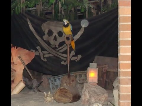 DIY Treasure chest Pirates of the Caribbean ride replica -POTC Pallet wood pirate party project