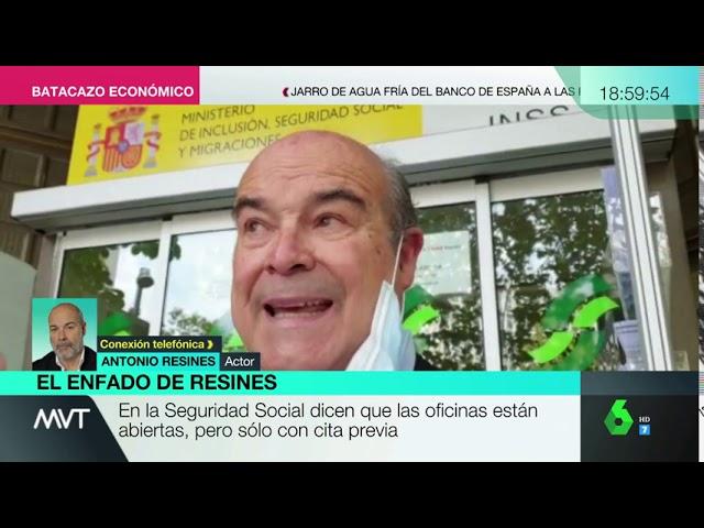 Antonio Resines denuncia el colapso en oficinas de la Seguridad Social