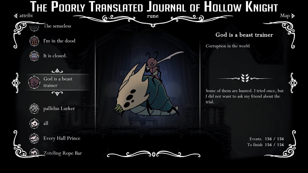 The Poorly Translated Journal of Hollow Knight