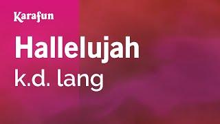Karaoke Hallelujah - k.d. lang *