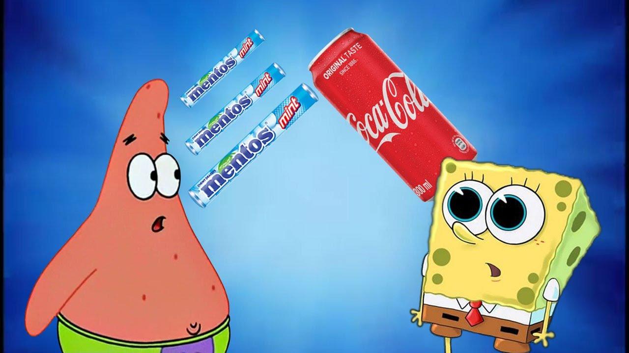 SpongeBob, Coca Cola and Mentos