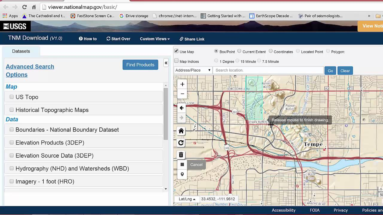 Using USGS National Map Viewer - YouTube