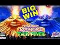 Volcanic Rock Fire Twin Fever Slot Machine  HUGE LINE HIT & Bonuses | Live Slot Play w/NG Slot