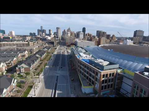 Low Altitude Drone Flight in Detroit