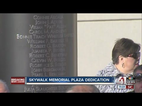 Skywalk memorial dedicated