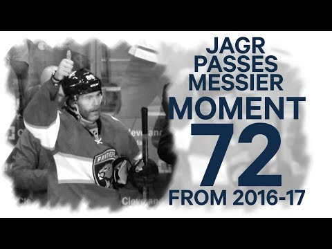 No. 72/100: Jagr moves into 2nd place on NHL's all-time points list