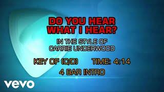 Carrie Underwood - Do You Hear What I Hear (Karaoke)