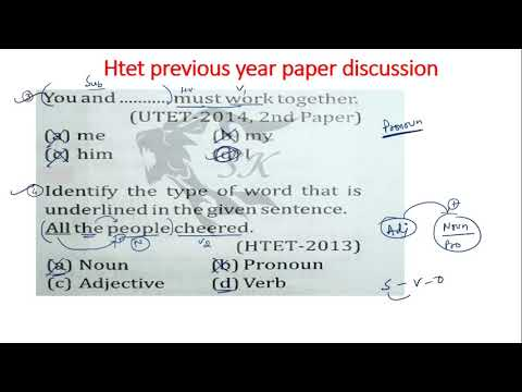 HTET previous year question paper discussion with concepts-6
