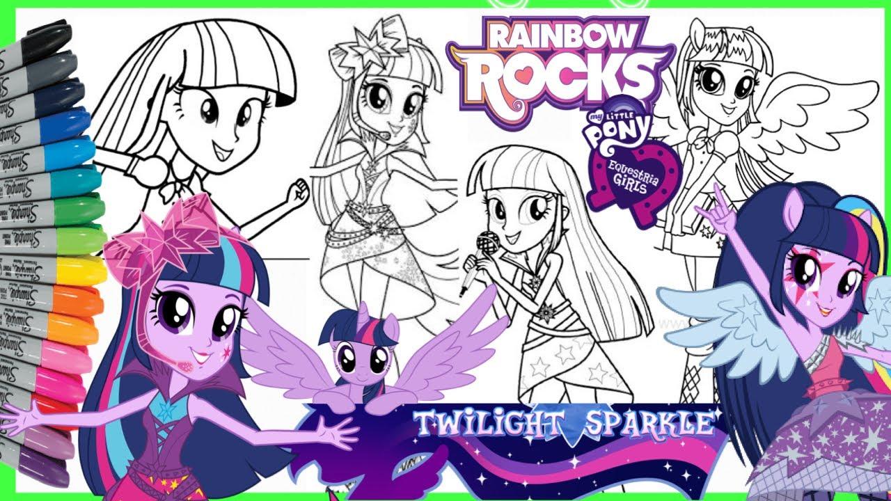 Mewarnai Kuda Poni Mlp Equestria Girls Twilight Sparkle Coloring Pages Compilation Kompilasi Youtube