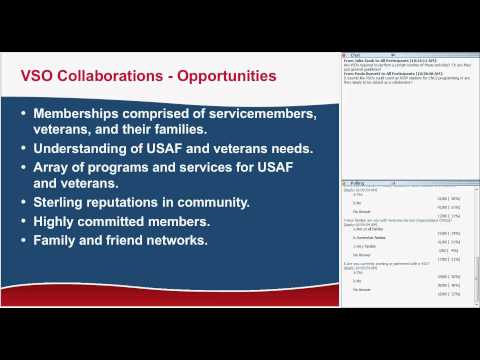 Working with Veterans Service Organizations (VSOs)