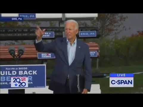 """""""Where am I going? Am I going this way?"""" a confused maskless Joe Biden  in Pennsylvania."""