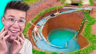 הילדים האלה בנו מגלשת מים סודית מתחת לאדמה!