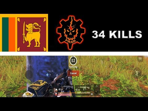 Fragging On Sanhok With Srilankan PUBG MOBILE Frag Team | 34 SQUAD KILLS