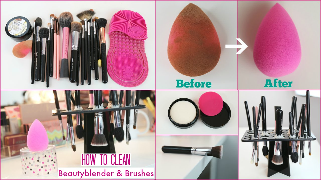 how to clean beauty blender sponge brushes with solid cleanser arzan blogs youtube. Black Bedroom Furniture Sets. Home Design Ideas