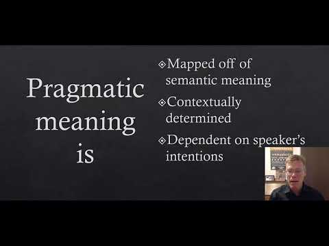 A Brief Introduction to Pragmatics vs  Semantics