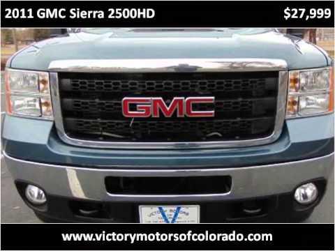 2011 gmc sierra 2500hd used cars longmont co youtube for Victory motors trucks longmont