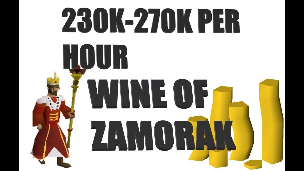 OSRS Money making ways GUIDE TO WINE OF ZAMORAK 2019