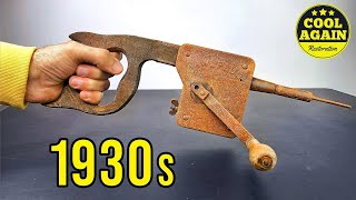 1930 Belgian Hammer Drill Restoration - The Coolest Tool You Ever Seen