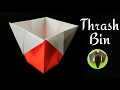 Easy to make TRASH BIN DUSTBIN DIY Tutorial by Paper Folds