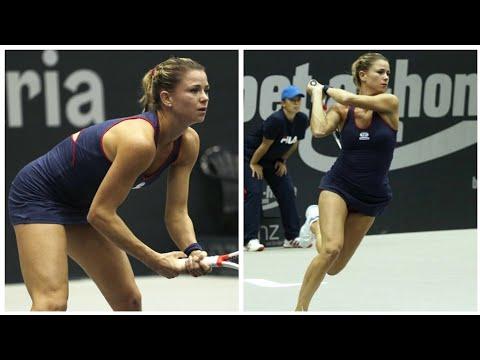 Camila Giorgi - Tennis | Linz Open (Tight Navy Blue Dress)