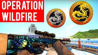 CS GO - Best Drops, All Challenge Coins, & Ranking Up Fast! (Operation Wildfire)