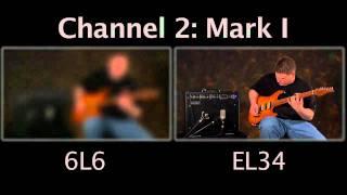 Mesa/Boogie Mark V 6L6 vs EL34 Tube Shootout Comparison