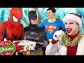 SUPERHERO CHRISTMAS PARTY! Batman, Joker, Iron Man, Spider-Man, Superman - TheSeanWardShow