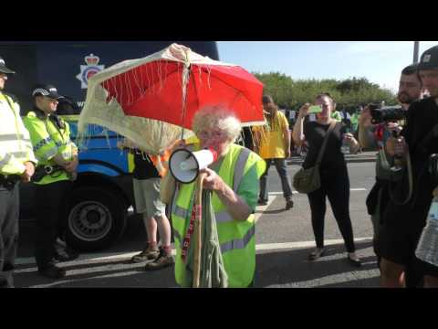 👯 The LEGEND 👯 Anne Power 💪 @ PNR Anti Fracking 👯 Frack Free Lancashire 👯