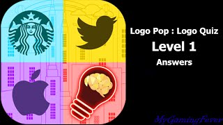 Logo Pop : Logo Quiz - Level 1 Answers