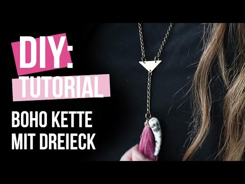 DIY TUTORIAL: Kette mit Zubehör aus DQ Metall und trendy Dreieck Zwischenstück – Selbst Schmuck machen