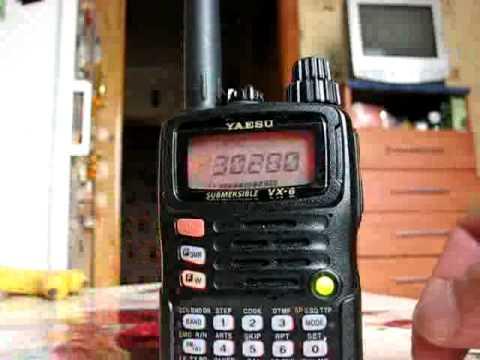 Тест радиостанции Yaesu VX-6 на прием авиадиапазона - YouTube