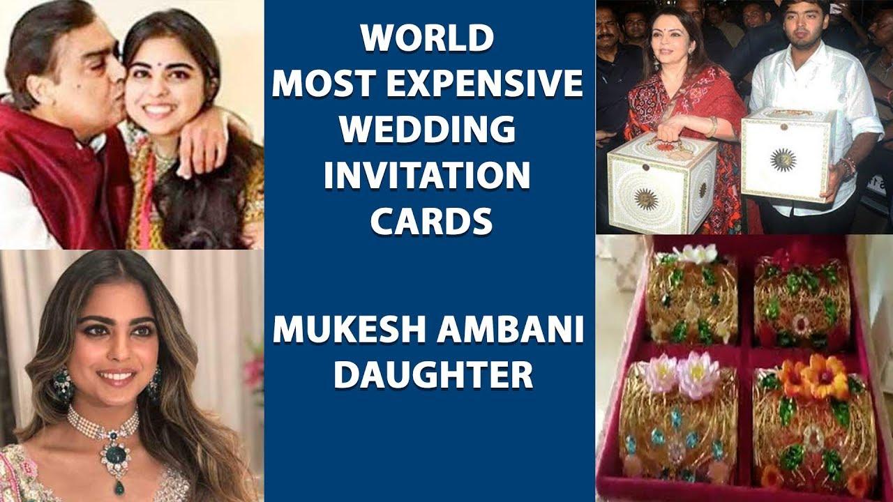 World Most Expensive Wedding Invitation Cards Mukesh Ambani Daughter Isha Ambani Anand Piramal