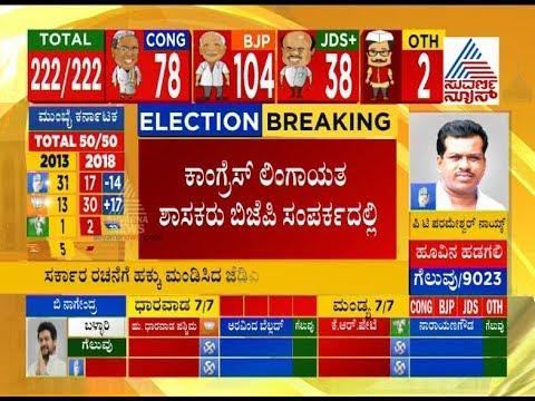 Live Karnataka Election Results : Congress Lingayat MLA's Are In BJP Contact