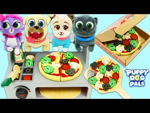 Disney Jr Puppy Dog Pals Bingo, Rolly, & Friends Have a Pizza Party with Surprise Toys!