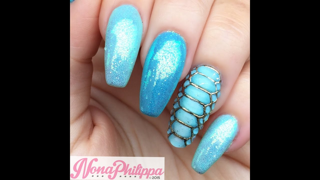 Real snake skin nail art | break rules, not nails.
