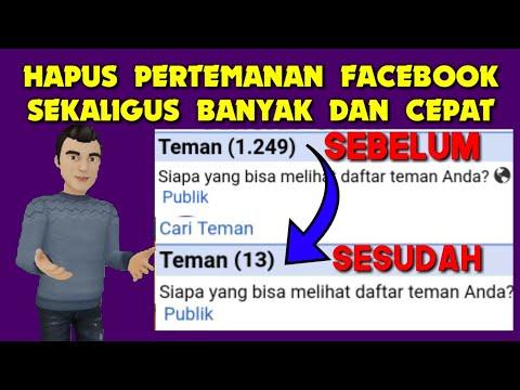 Cara Hapus Pertemanan Fb Sekaligus Banyak Lewat Hp | Delete all friends fb.
