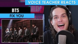 Voice Teacher Reacts to BTS - Fix You (Coldplay Cover)