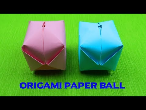How to make a Paper Ball ? | paper balloon | origami ball